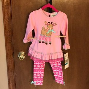 Baby Girls Rare Editions size 24M 2 piece outfit